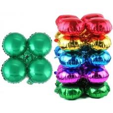 Связка шаров для арки (21''/53 см) Круг, Зеленый, 1 шт.