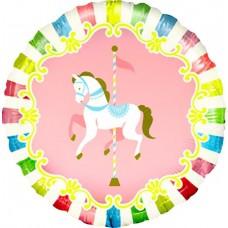 Шар (18''/46 см) Круг, Лошадь карусельная, 1 шт.