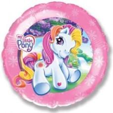 Шар (18''/46 см) Круг, My Little Pony, Лошадка Селестия, Розовый, 1 шт.