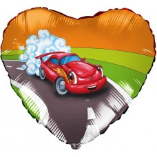 Шар (19''/48 см) Сердце, Машина, 1 шт.