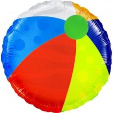 Шар (9''/23 см) Мини-круг, Пляжный мяч, 1 шт.
