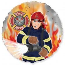 Шар (18''/46 см) Круг, Пожарный, 1 шт.