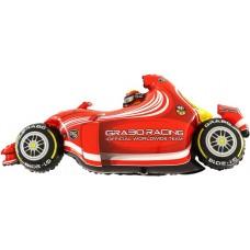 Шар (49''/124 см) Фигура, Гоночный автомобиль, Красный, 1 шт.