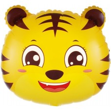 Шар (19''/48 см) Фигура, Голова, Маленький Тигр, 1 шт.