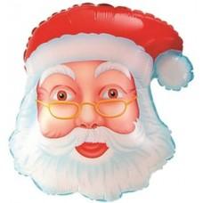 Шар (19''/48 см) Фигура, Голова, Дед Мороз Сказочник, 1 шт.