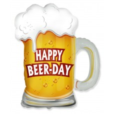 Шар (11''/28 см) Мини-фигура, Пиво в кружке, 1 шт.