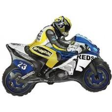 Шар (12''/30 см) Мини-фигура, Мотоцикл, Синий, 1 шт.