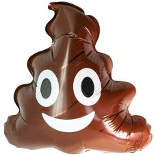 Шар (10''/25 см) Мини-фигура, Смайл Эмоции (Шоколадное мороженое), Коричневый, 1 шт.