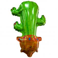 Шар (10''/25 см) Мини-фигура, Кактус, 1 шт.
