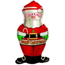 Шар (12''/30 см) Мини-фигура, Дед Мороз, 1 шт.
