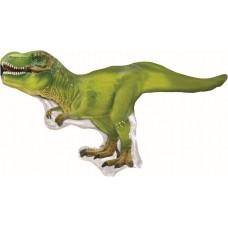 Шар (10''/25 см) Мини-фигура, Динозавр Тираннозавр, Зеленый, 1 шт.