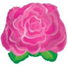 Шар (11''/28 см) Мини-фигура, Роза, Розовый, 1 шт.