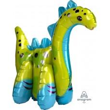 Шар (23''/58 см) Ходячая Фигура, Динозавр, 1 шт. в упак.