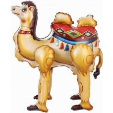 Шар (19''/48 см) Ходячая Фигура, Верблюд, 1 шт. в упак.