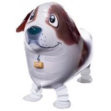 Шар (24''/61 см) Ходячая Фигура, Собака, Коричневый, 1 шт.