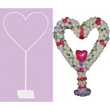 Стойка для шаров, Сердце, сборно-разборная, 2,2 м, 1 шт.