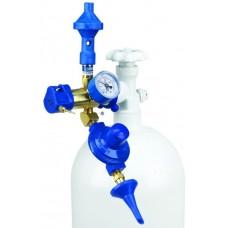 Насадка с манометром и 2 клапанами, гелий/воздух 60/40 и плавного нажатия с отсечным клапаном, 1 шт.