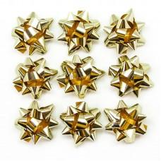 Бант Звезда, Золото, Металлик, 4 см, 10 шт.