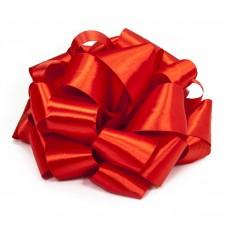 Бант Атласная лента, Красный, 21 см, 1 шт.