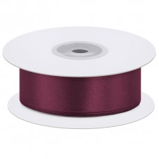 Лента атласная (0,7 см*22,85 м) Пурпурный, 1 шт.
