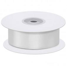 Лента атласная (0,7 см*22,85 м) Белый, 1 шт.