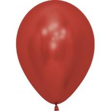 Шар (12''/30 см) Reflex, Зеркальный блеск, Красный (915), хром, 50 шт.