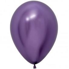 Шар (12''/30 см) Reflex, Зеркальный блеск, Фиолетовый (951), хром, 50 шт.