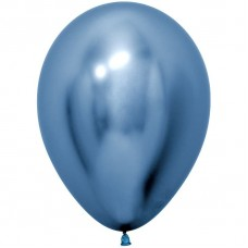 Шар (5''/13 см) Reflex, Зеркальный блеск, Синий (940), хром, 50 шт.