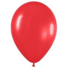 Шар (15''/38 см) Красный (015), пастель, 50 шт.