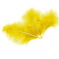 Перья, Желтый, 13*15 см, 30 шт.