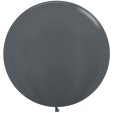 Шар (24''/61 см) Графит (578), металлик, 3 шт.