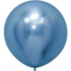 Шар (24''/61 см) Reflex, Зеркальный блеск, Синий (940), хром, 3 шт.