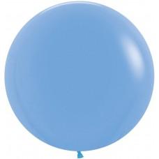 Шар (24''/61 см) Голубой (040), пастель, 3 шт.