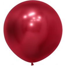 Шар (24''/61 см) Reflex, Зеркальный блеск, Красный (915), хром, 3 шт.