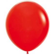Шар (30''/76 см) Красный (015), пастель, 4 шт.