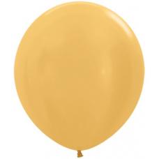 Шар (30''/76 см) Золото яркое (570), металлик, 20 шт.