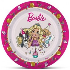 Тарелки (7''/18 см) Барби, Розовый, 6 шт.