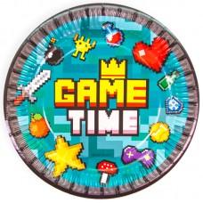 Тарелки (7''/18 см) Game Time, Пиксели, 6 шт.