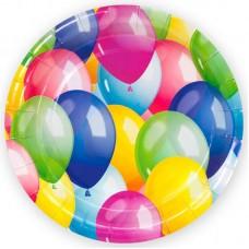 Тарелки (7''/18 см) Воздушные шары, Разноцветный, 6 шт.