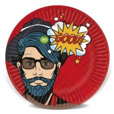 Тарелки (7''/18 см) Pop Art, Комикс, 6 шт.