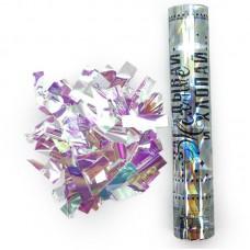 Пневмохлопушка (12/30 см), Загадай Желание!, Металлизированное конфетти, Хамелеон, Голография, 1 шт.