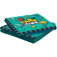 Салфетки, Game Time, Пиксели, 33*33 см, 20 шт.