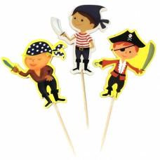 Пики-топперы для канапе Пираты, 4*12 см, 12 шт.