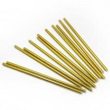 Трубочки для коктейлей Золото, 12 шт