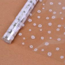 Упаковочная пленка (0,7*7,5 м) Маргаритки, Белый, 1 шт.