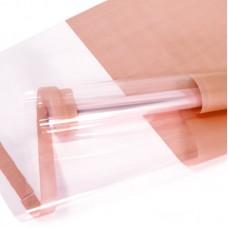 Упаковочная пленка (0,7*7,3 м) Прозрачное окно, Розовая малина, 1 шт.