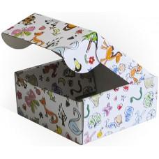 Коробка складная Детские рисунки, 14*14*6 см, 5 шт.