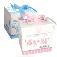 Коробка складная С Новорожденным!, 30*30*30 см, 1 шт.