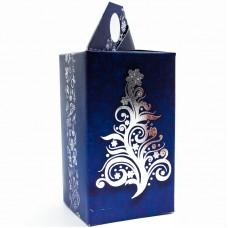 Набор коробок Новогодняя елочка, Синий, 8*8*14 см, 5 шт.