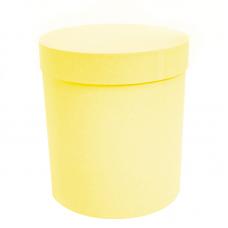 Коробка подарочная Цилиндр, Желтый, 21*21*23 см, 1 шт.